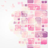 Women background. Pink bright background with butterfly Stock Illustration
