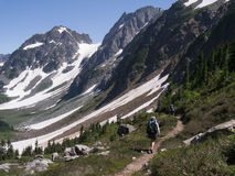 Women Backpacking in the North Cascades Royalty Free Stock Photo