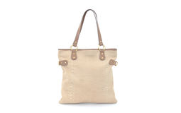 Women bag. Front side women bag with a snake skin model isolated Stock Image
