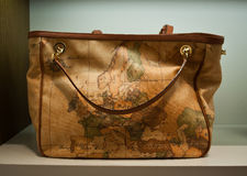 Women bag map of Europe  Royalty Free Stock Image