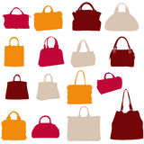 Women bags  silhouette Royalty Free Stock Photos