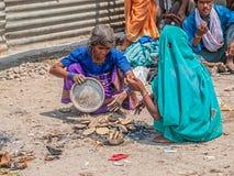Women baking scones in Haridwar Stock Image