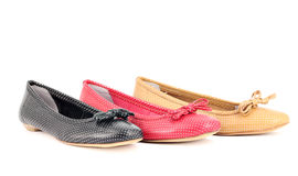 Women ballet flat shoes Royalty Free Stock Photography