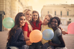 Women with balloons Stock Photos