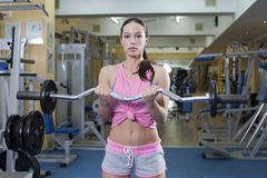 Women with barbells Stock Photography
