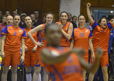 Women Basketball Team  Royalty Free Stock Images