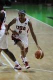 Women basketball. UGMK vs USA Royalty Free Stock Photography
