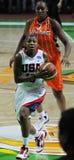 Women basketball. UGMK vs USA Royalty Free Stock Images