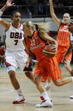 Women basketball. UGMK vs USA Stock Photos