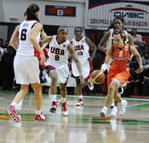 Women basketball. UGMK vs USA Stock Photography