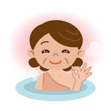 Women in bathing Royalty Free Stock Photography