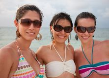 Women at the beach Royalty Free Stock Photography