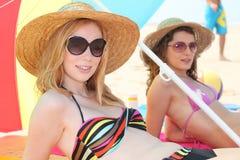 Women at the beach Stock Photo