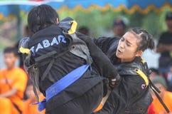 Women Beach martial art Stock Image