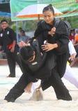 Women Beach martial art Royalty Free Stock Photography