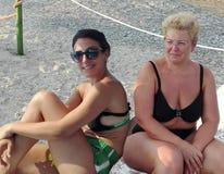 Women at beach Stock Photo