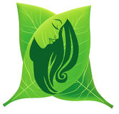 Women beauthy and care symbol. A illustration of women beauty and care symbol Royalty Free Stock Photos
