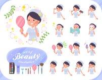 women_beauty扁平式的护士 皇族释放例证