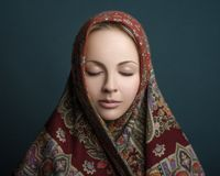 Women Beauty handkerchief Stock Image