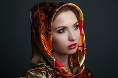 Women Beauty handkerchief Stock Images