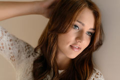 Women beauty. Portrait of beautiful young women posing with h Royalty Free Stock Images