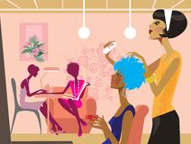 Women in a beauty salon Royalty Free Stock Image