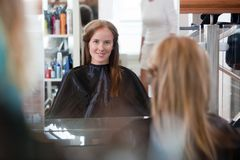 Women at Beauty Salon Royalty Free Stock Photos