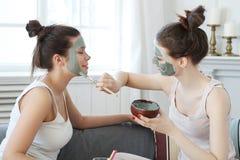 Women. Beauty. Women in spa salon Royalty Free Stock Photos