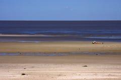 Women became sunburnt. In beach rio de la plata colonia del sacramento uruguay stock photo