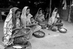 Women beedi worker. Stock Photography