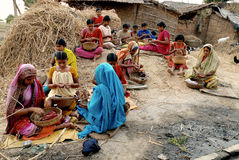 Women beedi worker Royalty Free Stock Images
