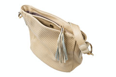 Women beige handbag Stock Image