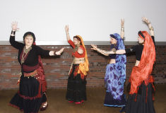 Women belly dancing Stock Photo