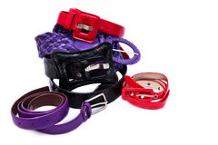 Women belts Royalty Free Stock Photography