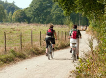 Women on a bike Royalty Free Stock Image