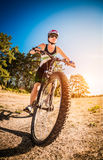 Women on bike Stock Photography