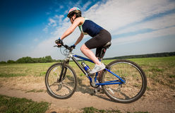 Women on bike Stock Photos
