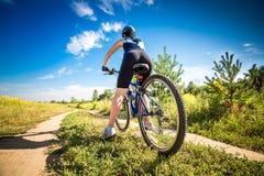 Women on bike Stock Photo