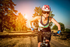Women on bike Royalty Free Stock Photography