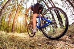 Women on bike Royalty Free Stock Photo