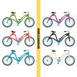 Women Bike Two Stock Photos