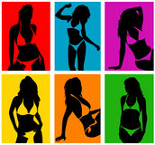 Women in bikini 2 vector Royalty Free Stock Photo