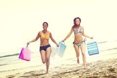 Women Bikini Shopping Bags Beach Summer Concept Royalty Free Stock Photo