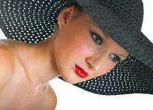 Women in black hat Royalty Free Stock Photos