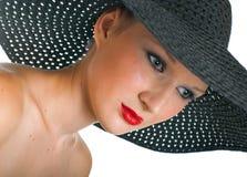 Women in black hat Royalty Free Stock Photos