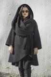 Women in black jacket Stock Photo