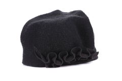 Women black knit hat. Stock Image