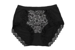 Women black panties Royalty Free Stock Photos