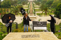 Women in Black Protest, Haifa royalty free stock images