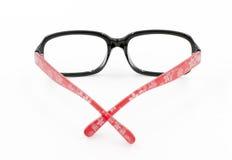 Women black-rimmed glasses. On white background Stock Photos